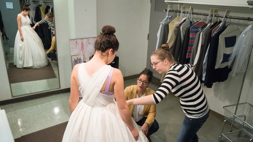 fitting a costume for Big Love