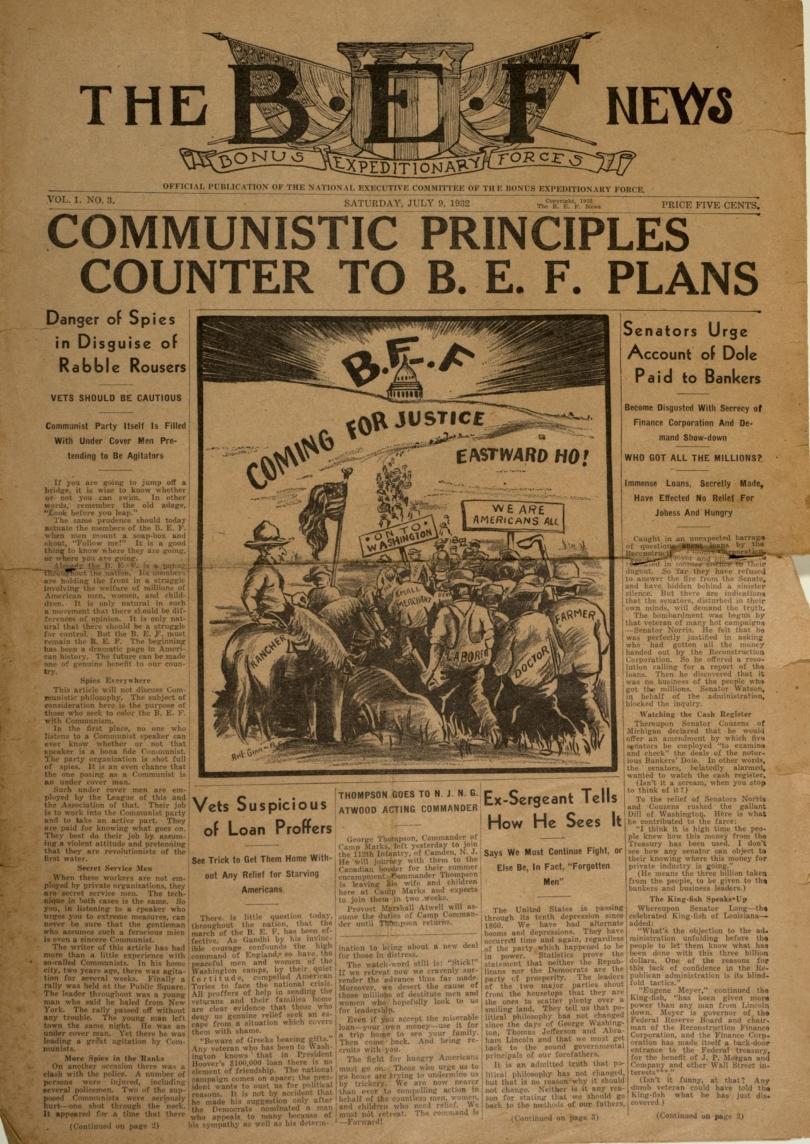 BEF news July 1932