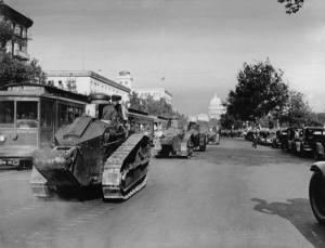 Tanks in Washington, 1932