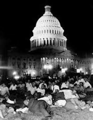 Bonus marchers in Washington, 1932
